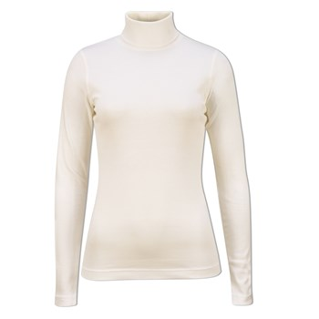Daily Sports Ladies Maggie Long Sleeve Roll Neck Ivory 2018