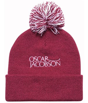 Oscar Jacobson Knitted Golf Hat II Faded Red 2018  a32ee924cdb6