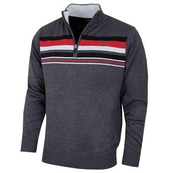 Cutter & Buck Striped Lined Windblock Golf Sweater Chamelge 2018