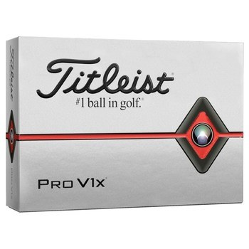 Titleist Pro V1x Golf Balls White 2019  - Click to view a larger image