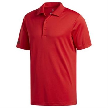 Adidas Performance Red Corporate Polo Shirt  - Click to view a larger image
