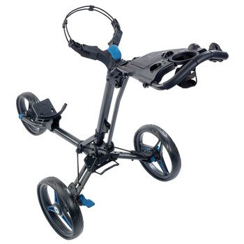 Motocaddy P1 Push Trolley Graphite/Blue  - Click to view a larger image