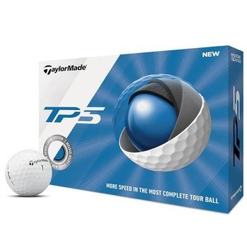 TaylorMade TP5 Golf Balls White  - Click to view a larger image