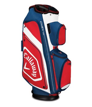 Callaway Chev Organiser Cart Bag Navy/White/Red 2019  - Click to view a larger image