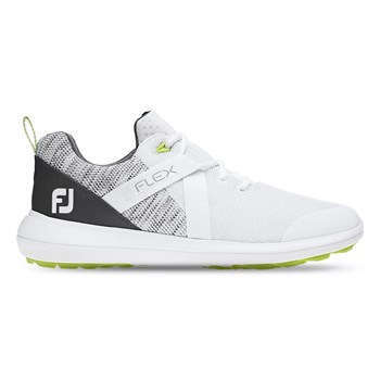 FootJoy Flex Shoes White/Grey  - Click to view a larger image