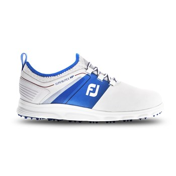 FootJoy SuperLites XP Shoes White/Blue/Red  - Click to view a larger image