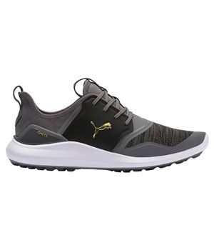Puma Ignite NXT Lace Golf Shoes Quiet Shade/Gold/Black
