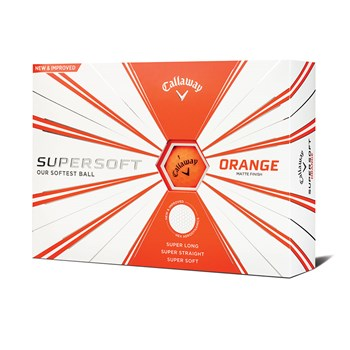 Callaway Supersoft Matte Golf Balls 1 Dozen Orange 2019