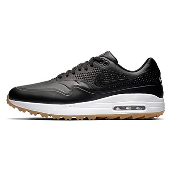 Nike Golf Air Max 1G Golf Shoes Black/Gum Light Brown/Black