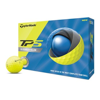 TaylorMade TP5 Yellow Golf Balls  - Click to view a larger image