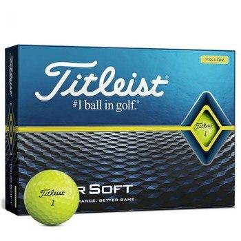 Titleist Tour Soft 2020 Golf Balls Yellow  - Click to view a larger image