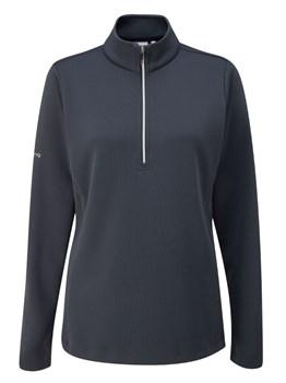 Ping Ladies Lyla Half Zip Fleece Golf Top Navy