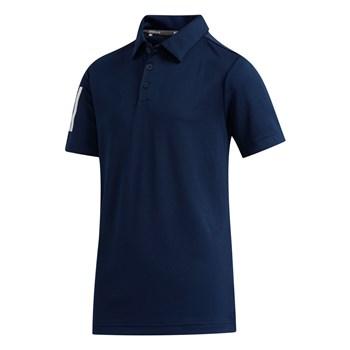 Adidas Boys Three Stripe Golf Polo Collegiate Navy