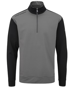 Oscar Jacobson Taylor Mid Layer Pullover Charcoal