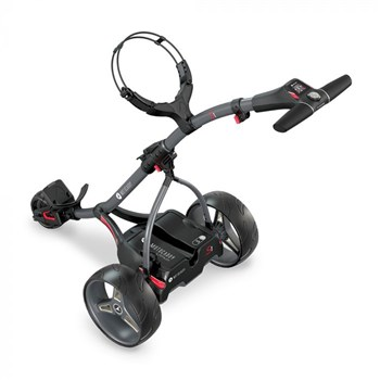 Motocaddy S1 Electric Golf Trolley Standard Lithium Battery Graphite/Red 1