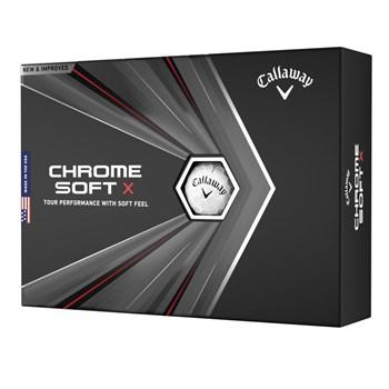 Callaway Chrome Soft X Golf Balls White 12 Ball Pack