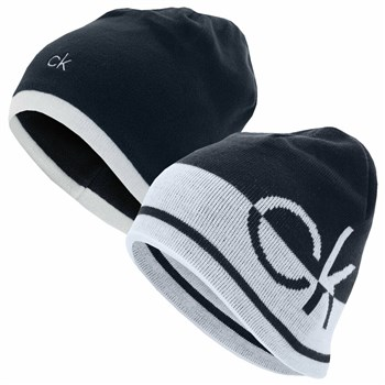 Calvin Klein Golf Windward Beanie Hat Navy/White  - Click to view a larger image