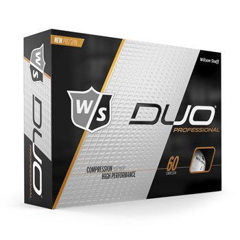 Wilson Duo Professional Golf Balls White  - Click to view a larger image