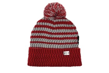 Callaway Mens Pom Pom Beanie Cardinal/Grey  - Click to view a larger image