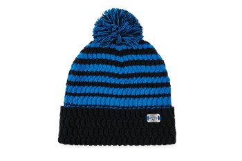 Callaway Mens Pom Pom Beanie Black/Royal  - Click to view a larger image