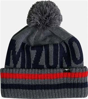 Mizuno BT Bobble Hat Deep Grey  - Click to view a larger image