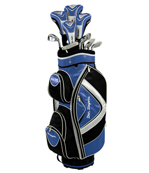 Ben Sayers M15 Package Set Blue Cart Bag Graph/Steel RH  - Click to view a larger image