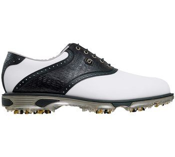 FootJoy Dryjoys Tour Golf Shoes - White/Black   - Click to view a larger image