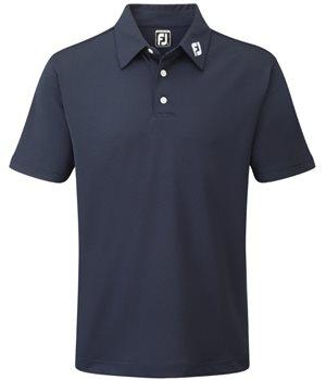 9b748a96 FootJoy Stretch Pique Solid Colour Polo Shirt Navy - Klicken zum Ansehen  eines größeren Bildes