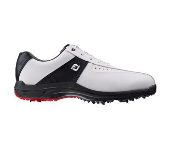 FootJoy Greenjoys Golf Shoes White Black  - Click to view a larger image