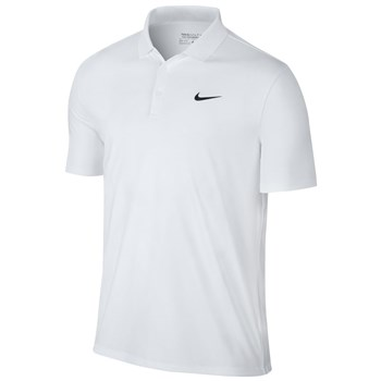 Nike Golf Mens Victory Solid LC Polo White/Black