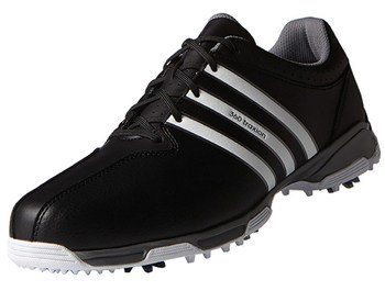 01870b7813ce43 Adidas Junior 360 Traxion Golf Shoes Core Black White Iron Metallic ...