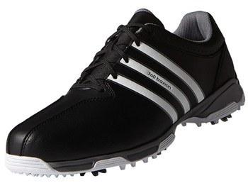 Adidas Junior 360 Traxion Golf Shoes Core Black/White/Iron Metallic