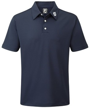 FootJoy Stretch Pique Solid Colour Polo Shirt Navy  - Click to view a larger image