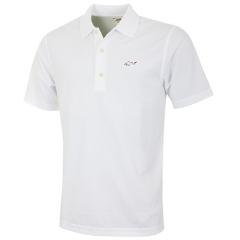 Greg Norman Performance Micro Pique Golf Polo Shirt White 2016