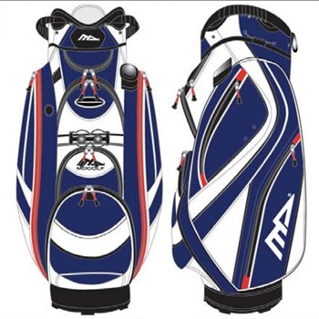 Md Golf Admiral Deluxe Cart Bag Royal Blue/White 2016  - Click to view a larger image