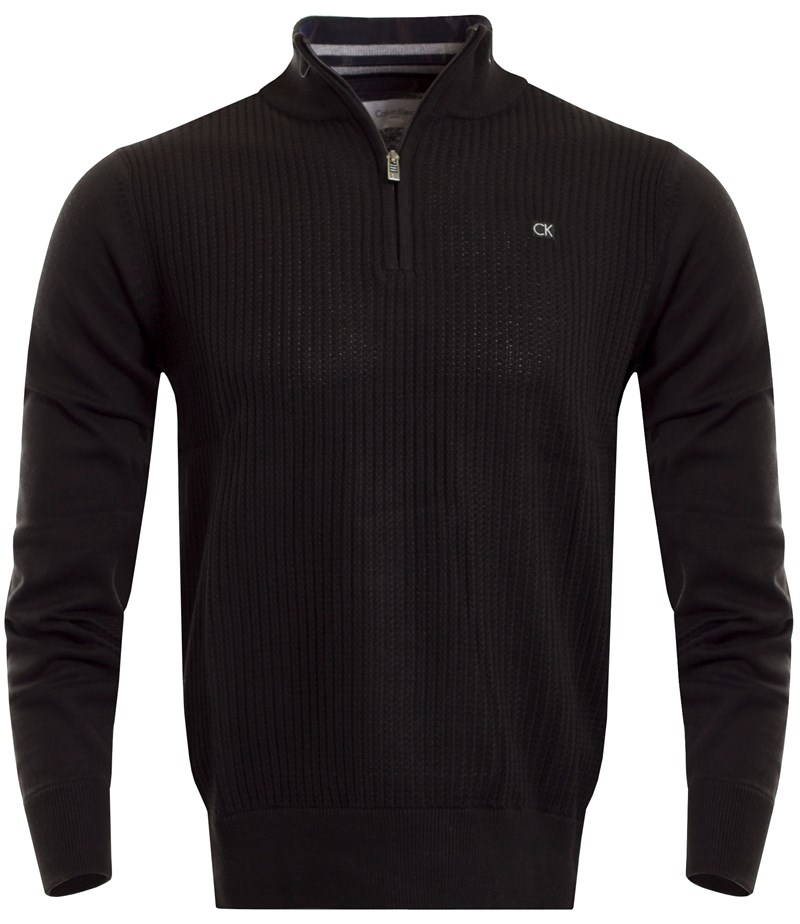 2f1aa0825 Calvin Klein Golf Mini Cable Knit Sweater Black 2016 - Click to view a  larger image