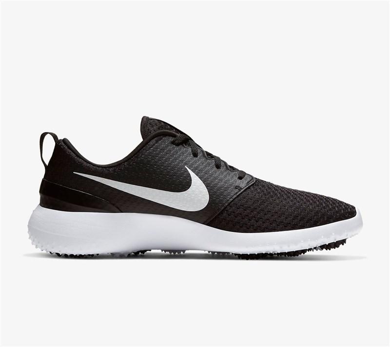 Roshe G Golf Shoes Black/White/Metallic